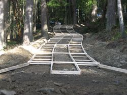 Ok so its our new concrete driveway not a rollercoaster for Steep driveway construction